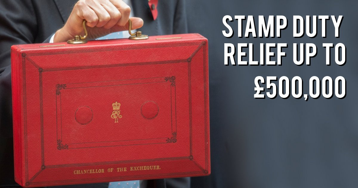 Stamp duty relief up to £500,000