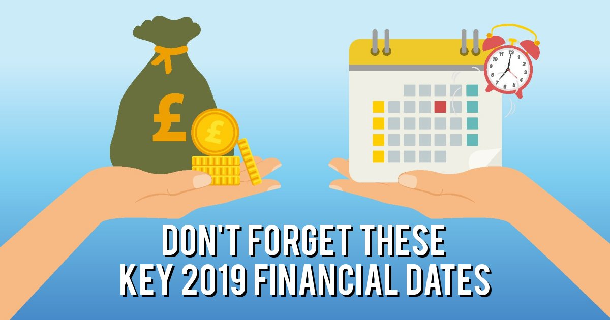 Don't forget these Key 2019 Financial Dates